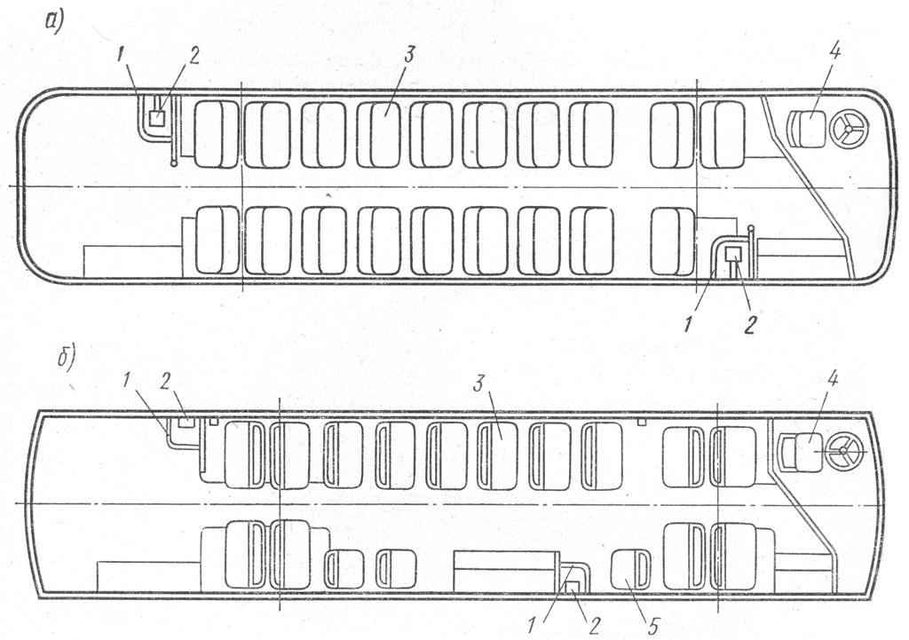 Планировка салона троллейбусов